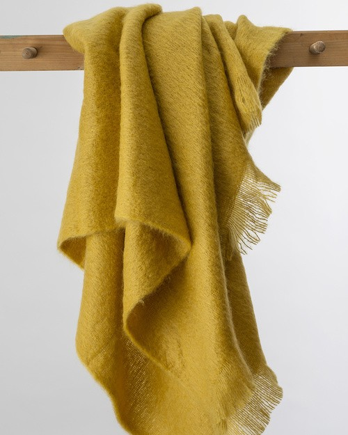 Amber Mohair Throw