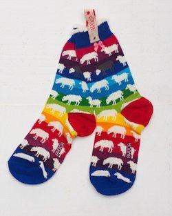 Rainbow Sheep Ankle Socks