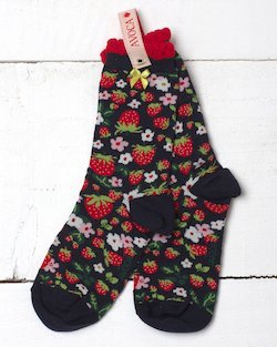 Strawberry Fields Ankle Sock