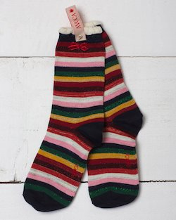 Glitter Stripe Ankle Sock