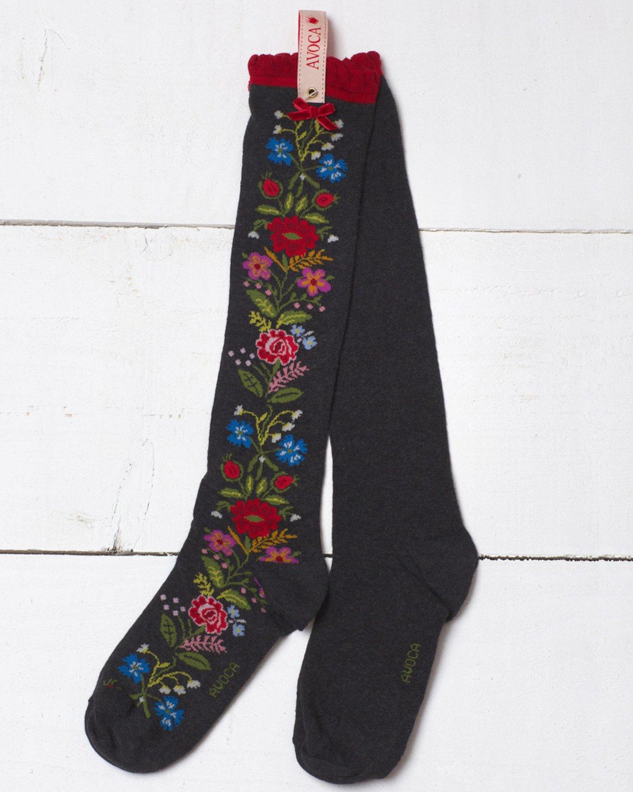 Floral Rosa Knee Sock
