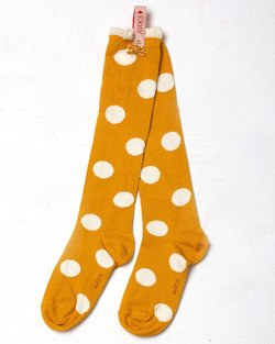 Mustard Polka Dot Knee Sock