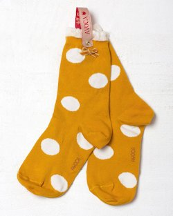 Mustard Polka Dot Ankle Sock