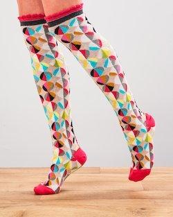 Funky Spot Knee Socks