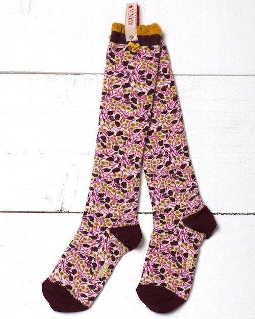 Dorothy Flower Knee Sock