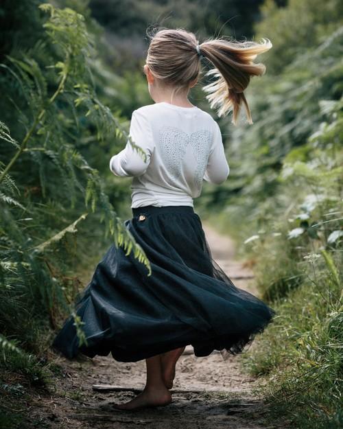 Angel Face Ballet Skirt in Black
