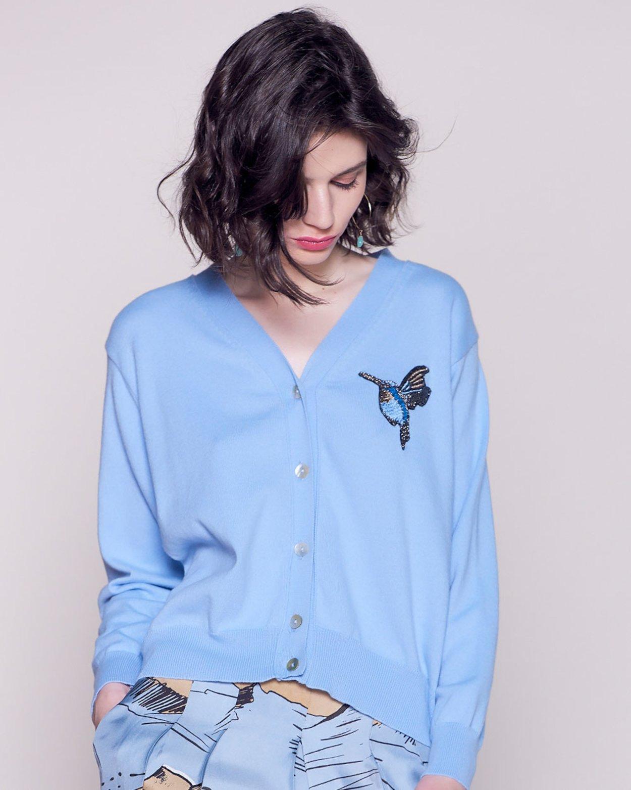 Bird Embellished Cardigan