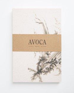 Black Wild Flower Lined Notebook