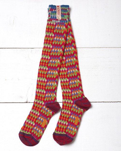 Basket Bright Knee Socks