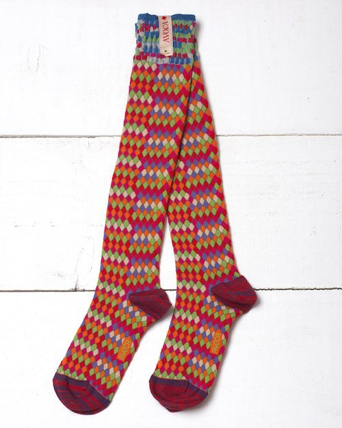 Basket Bright Knee Socks