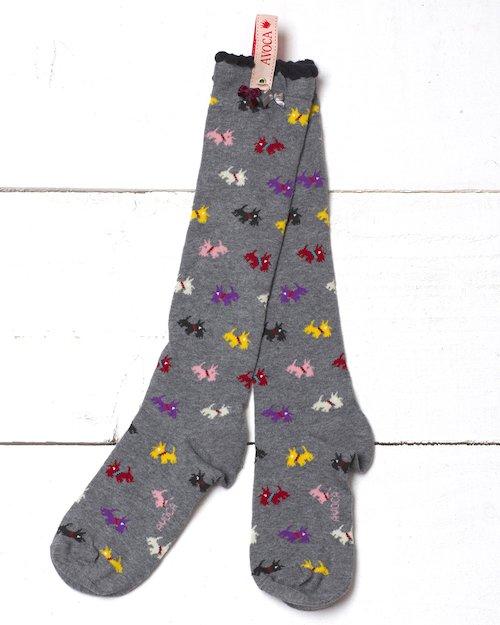 Scottie Knee Socks in Grey