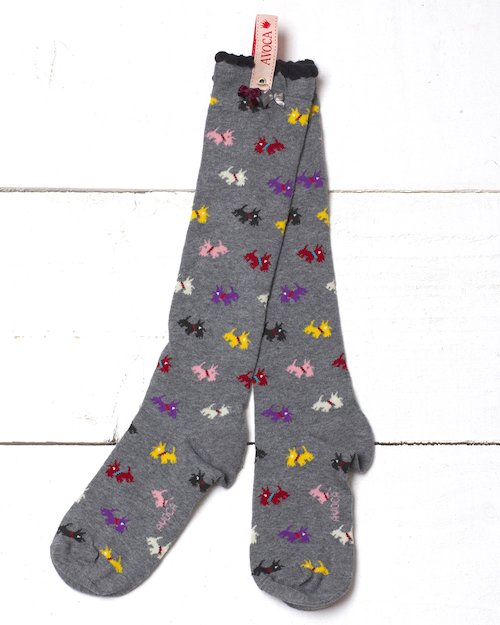 Scottie Knee Socks in Grey