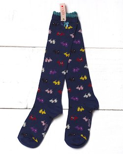 Scottie Knee Sock in Navy