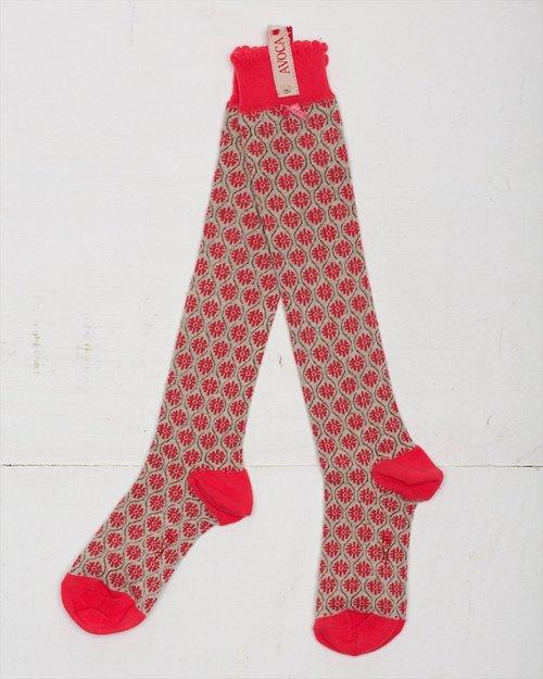 Flower Trellis Knee Sock