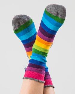 Rainbow Block Stripe Ankle socks