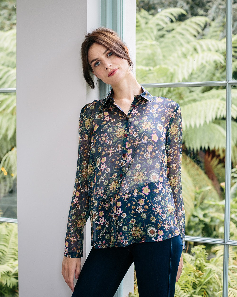 Botanical Silk Blouse