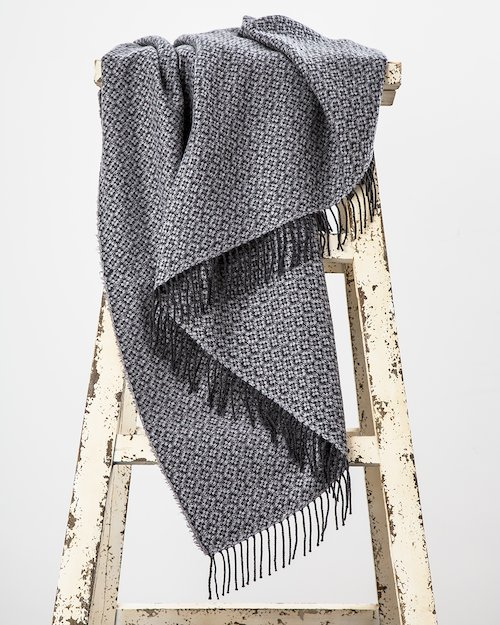 Bridget Cashmere Blend Throw in Grey