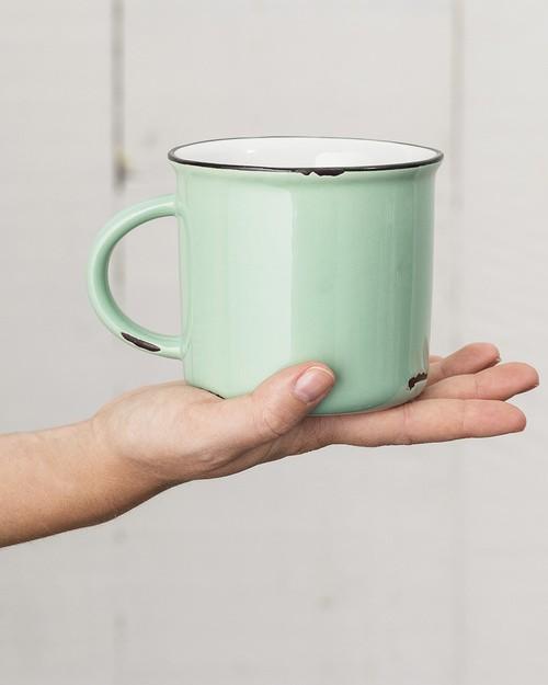 Tinware Mug in Green