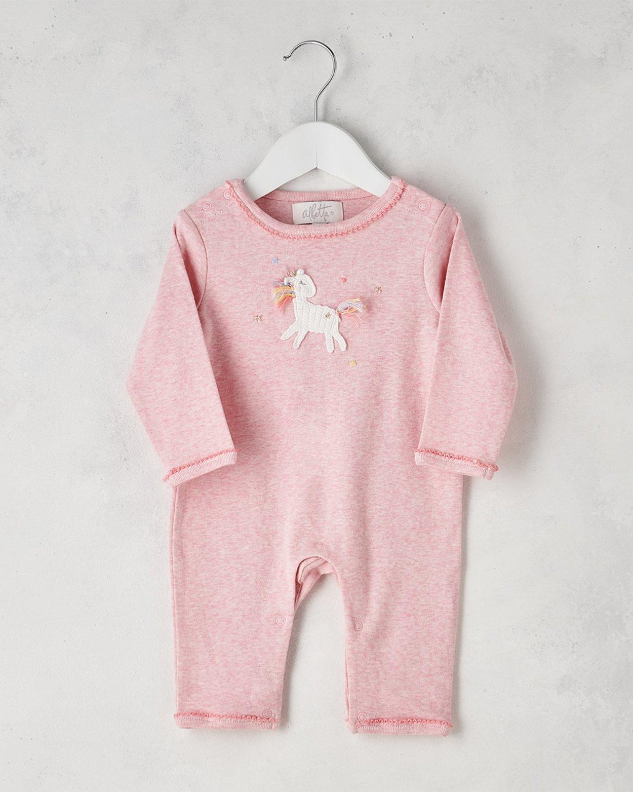 Crochet Unicorn Star Babygro
