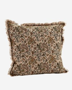 Fringed Printed Cushion Cover