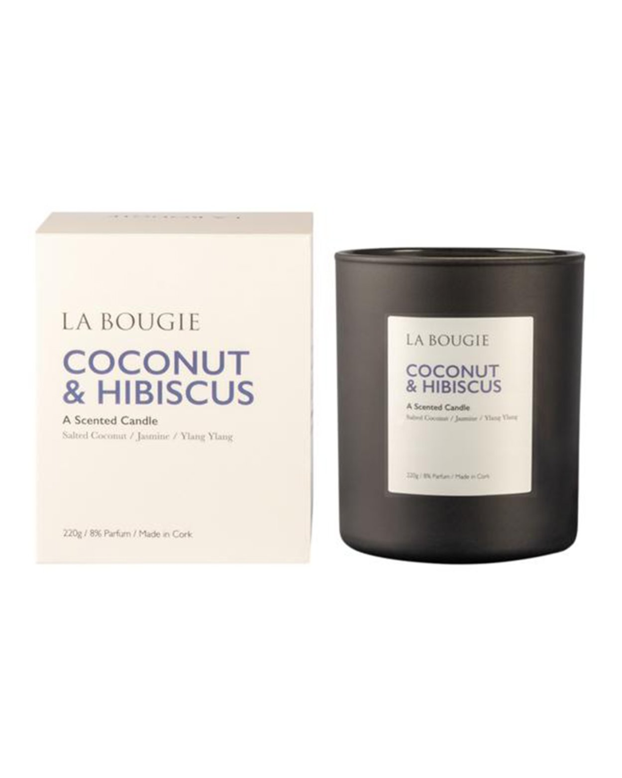 Coconut & Hibiscus Scented Candle
