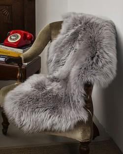 Grey Sheepskin Rug