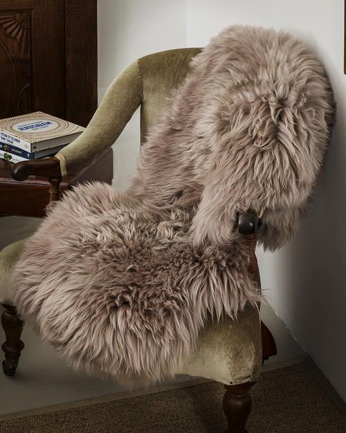 Taupe Sheepskin Rug