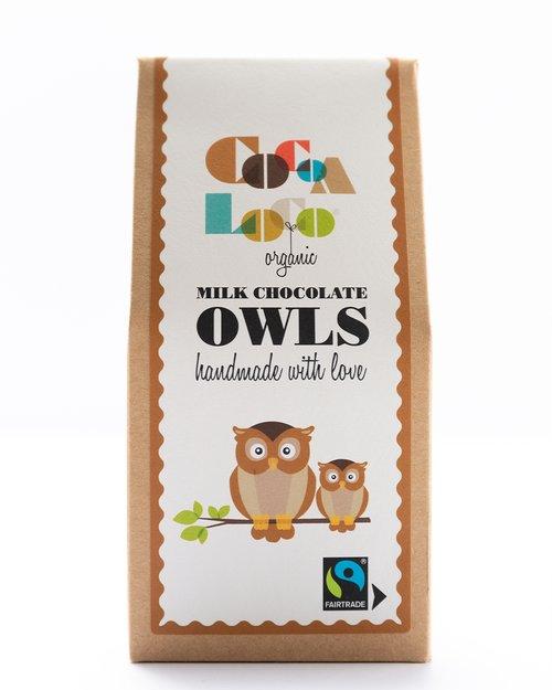 Organic Milk Chocolate Owls