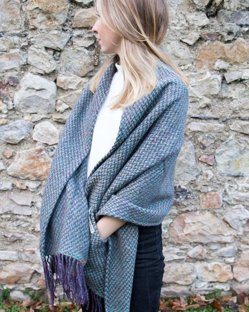 Cobble Pocket Wrap in Teal