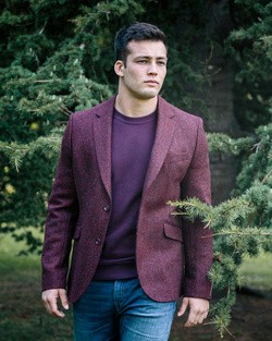 Tweed Dawson Jacket in Wine