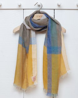 Multicolour Stripe Linen Scarf