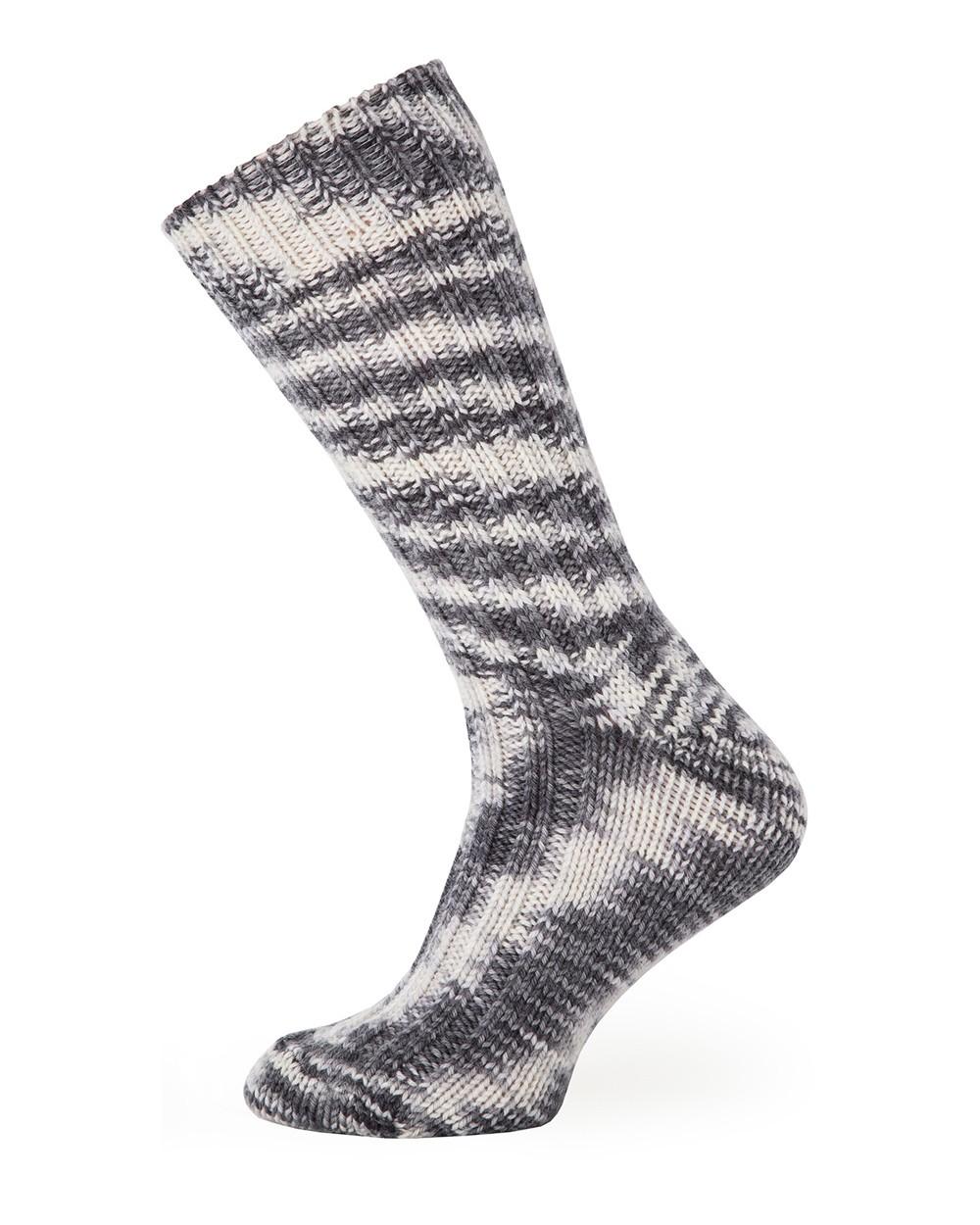 Men's 100% Wool Socks in Frost