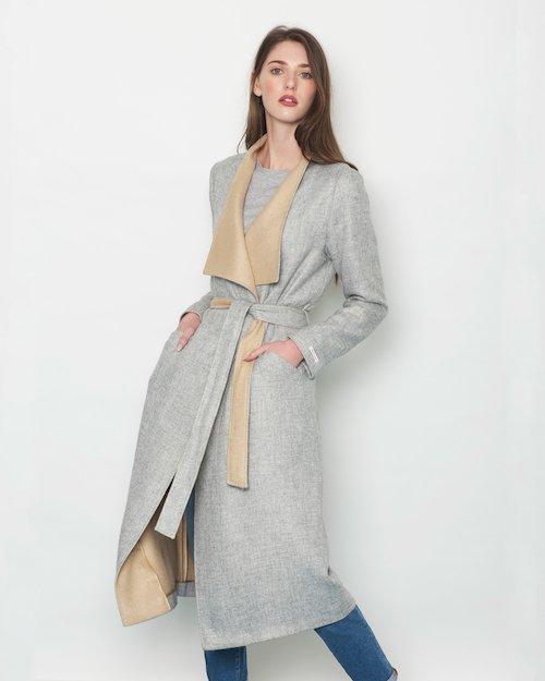 Double Sided Wrap Coat