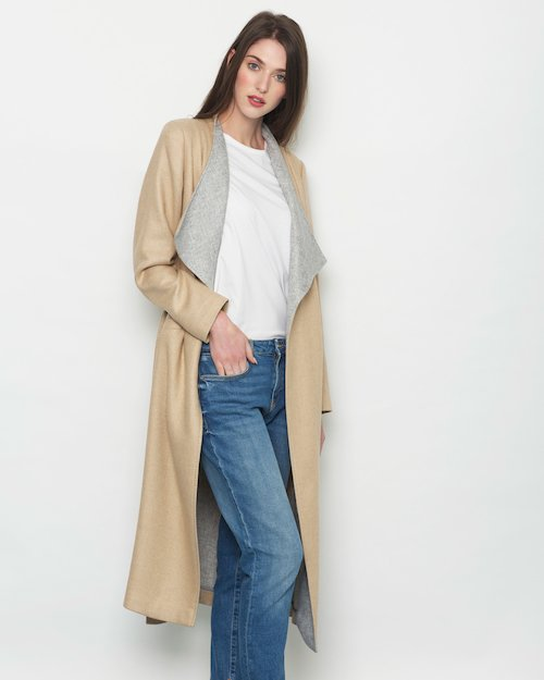 Double Sided Wrap Coat