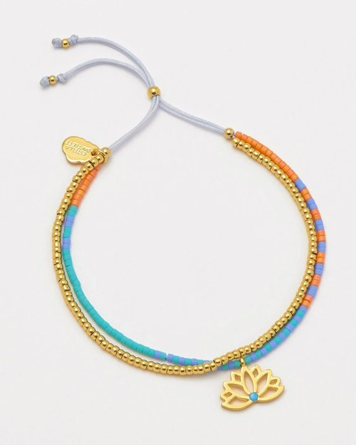 Gold Plated Lotus Phoebe Bracelet