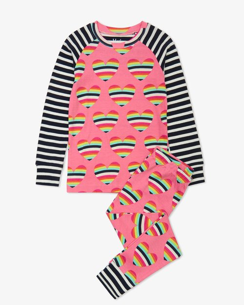 Rainbow Hearts Pajama Set