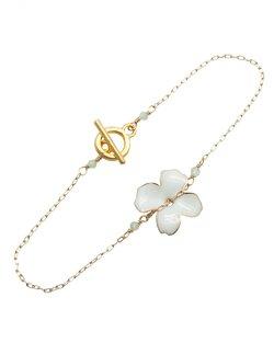 Enamel Flower Bracelet - White