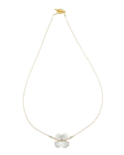 Enamel Flower Chain - White
