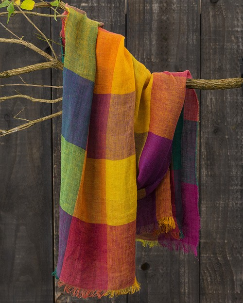 Florence Linen Scarf in Circus