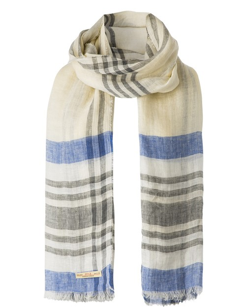 Florence Linen Scarf in Sand