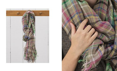 Florence Linen Scarf in Far Causeway