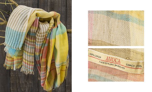 Florence Linen Scarf in Moy