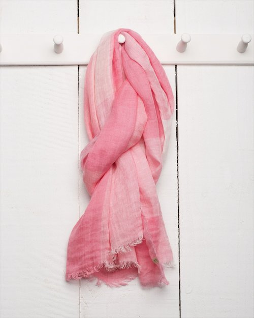 Florence Linen Scarf in Pink