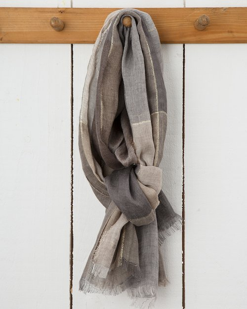 Summer Sparkle Florence Scarf in Neutral