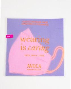100% Irish Linen Face Mask - Pink