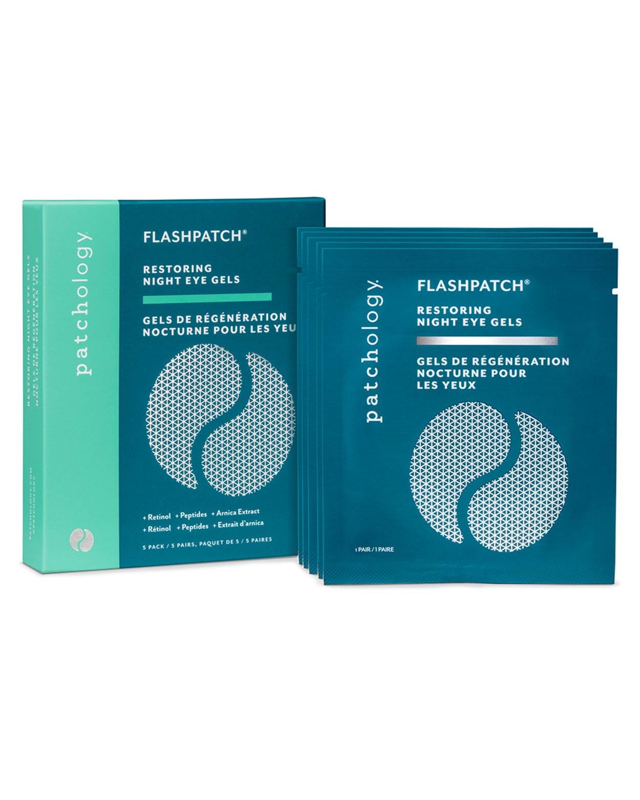 FlashPatch Restoring Night Eye Gels - Five Pairs