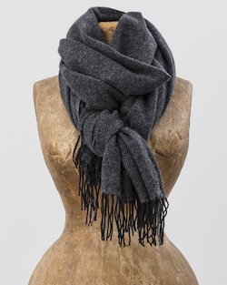 Cashmere Wool Sandymount Scarf in Black and Grey