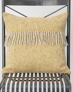 Heavy Herringbone Fringed Cushion Cover