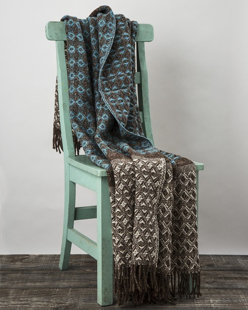 Grange Heavy Donegal Throw in Teal