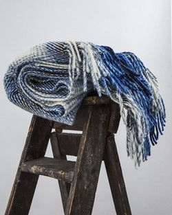 Soft Denim Heavy Herringbone Throw